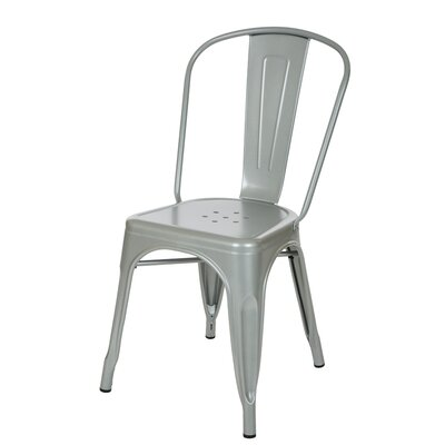 Vintage Side Chair Finish: Light Silver