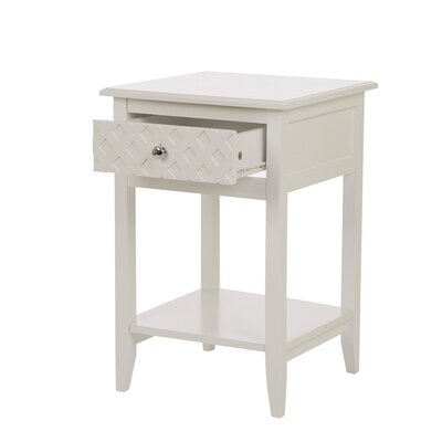 Karly Wooden End Table with Storage