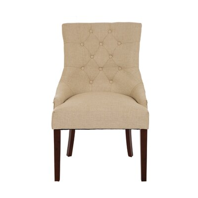Highvale Tufted Back Fabric Parsons Chair