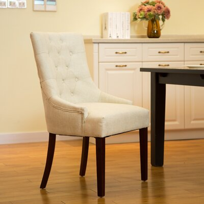 Highvale Tufted Back Fabric Arm Chair