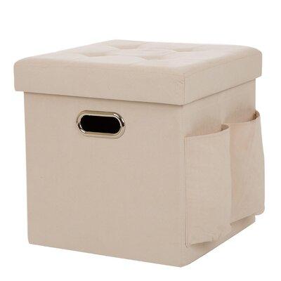 Suki Foldable Faux Suede Cube Storage Ottoman