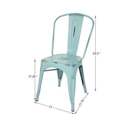 Vintage Side Chair Finish: Light Blue