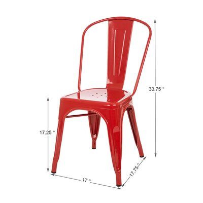 Vintage Side Chair Finish: Light Red