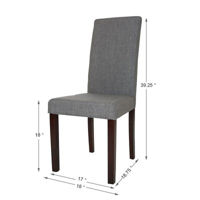 Padded Parsons Chair Upholstery: Light Gray