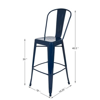Counter Height Bar Stool Finish: Navy Blue
