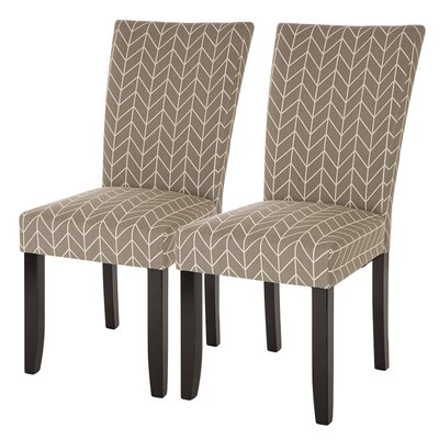 Albarado Herringbone Upholstered Dining Chair