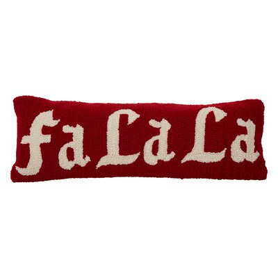 Hooked Fa La La 100% Cotton Lumbar Pillow