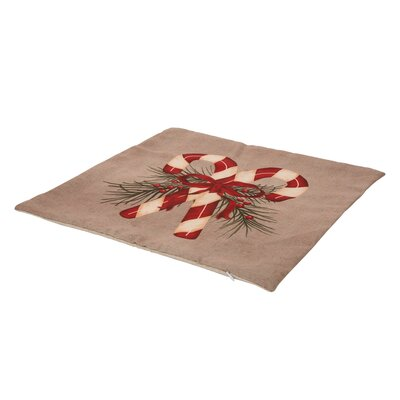 Candy Cane Linen Pillow Cover