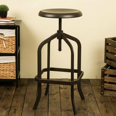 Maryetta Adjustable Height Swivel Bar Stool