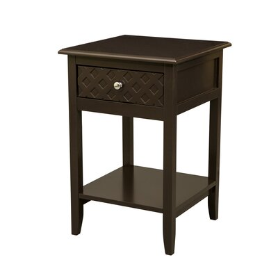 Marsallo Wooden End Table with Storage
