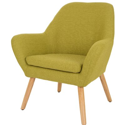 Volmer Mid Century Modern Barrel Chair Upholstery: Lime