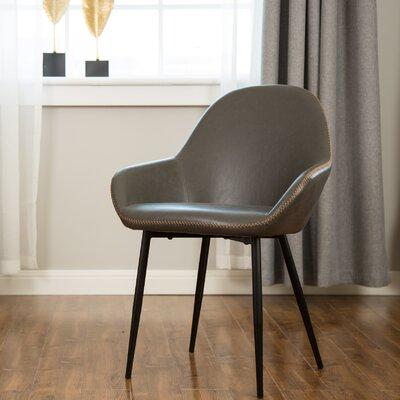 Zosia Mid Century Modern Upholstered Dining Chair Upholstery: Dark Gray