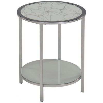 !nspire 2 Tier End Table - Finish: White