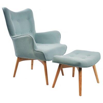!nspire Retro Arm Chair - Color: Hazy Blue