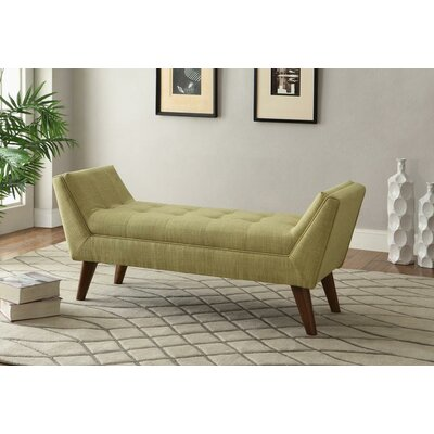 Furniture-!nspire Linen Fabric Entryway Bench