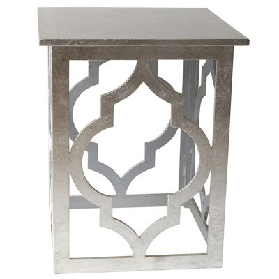 Fitzroy End Table Color: Silver