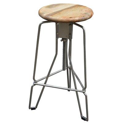 Adjustable Height Swivel Bar Stool Upholstery: Natural