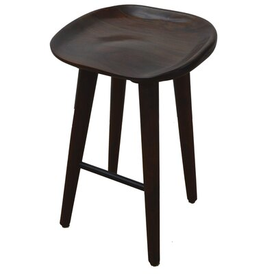 27.5 Bar Stool Upholstery: Walnut
