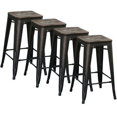Modus Counter Stool, 26 in Gunmetal