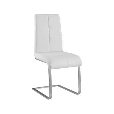 Side Chair Upholstery: White