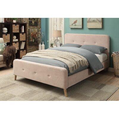 Upholstered Platform Bed Upholstery: Light Beige, Size: Queen