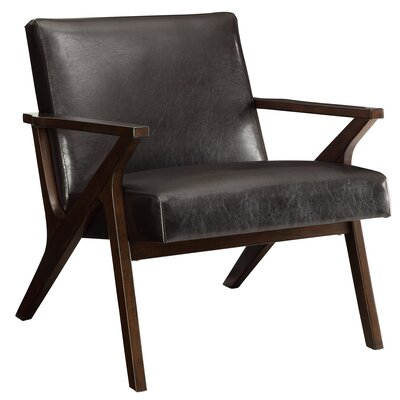Upholstered Accent Armchair Upholstery: Brown