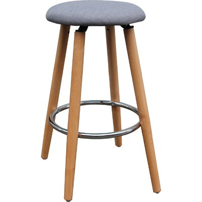 26 Bar Stool Upholstery: Gray