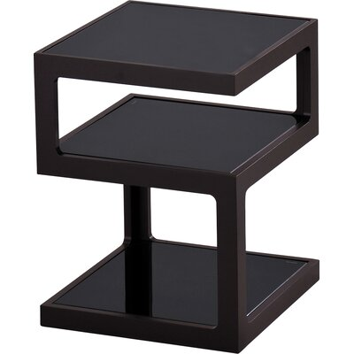 3 Tier End Table Finish: Black