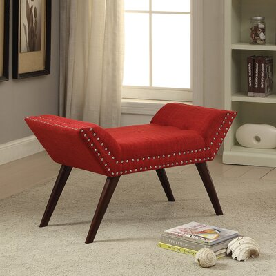 Sharonville Upholstered Bench Color: Red