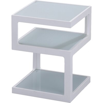 3 Tier End Table Color: White