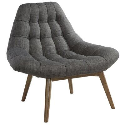 Oversize Waffle Tufted Fabric Lounge Chair Upholstery: Gray