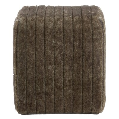 Faux Fur Ottoman Upholstery Color: Gray