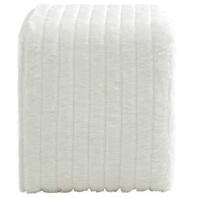 Faux Fur Pouf Upholstery Color: White