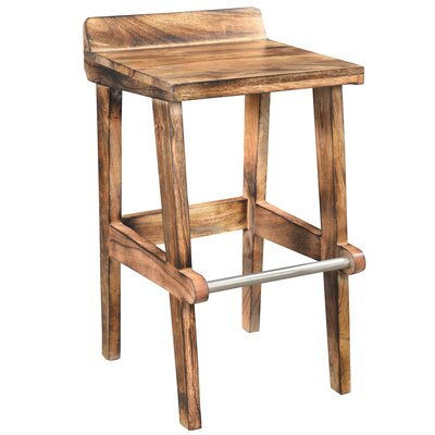 26 inch Bar Stool Color: Natural Burnt