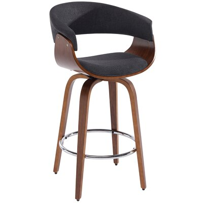 26 Swivel Bar Stool Color: Charcoal Gray