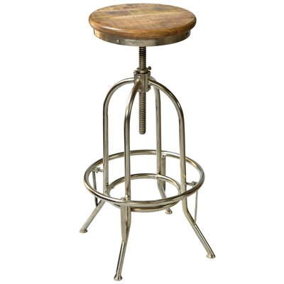 Adjustable Height Bar Stool Color: Natural
