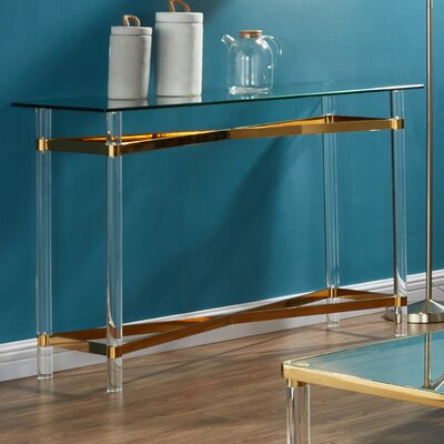 Console Table Finish: Gold