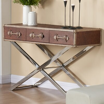 Console Table Color: Brown