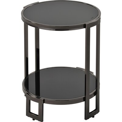 Jenny Glass and Metal End Table Finish: Black Nickel