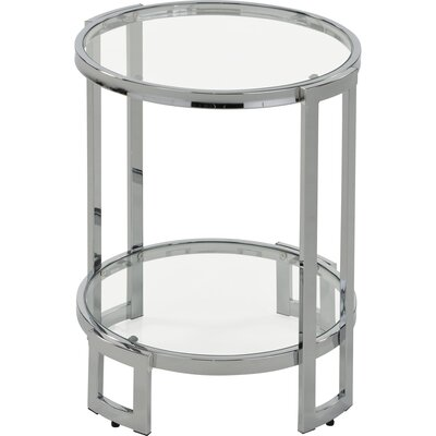 Jenny Glass and Metal End Table Finish: Chrome
