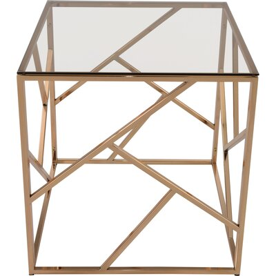 Jetta Glass and Metal End Table Finish: Gold