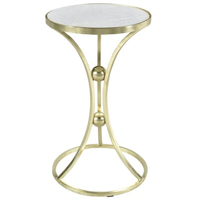 Bellanger Marble and Wrought Iron End Table Finish: Brass