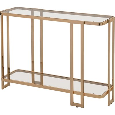 Jewell Glass and Metal Console Table Finish: Gold