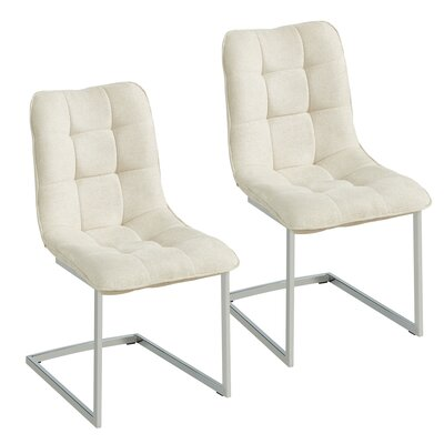 Beasley Upholstered Dining Chair Upholstery Color: Beige