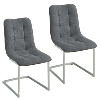 Beasley Fabric Upholstered Dining Chair Upholstery Color: Gray