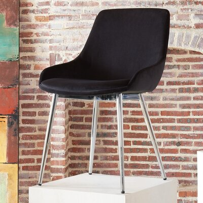 Cortes Upholstered Dining Chair Upholstery Color: Black