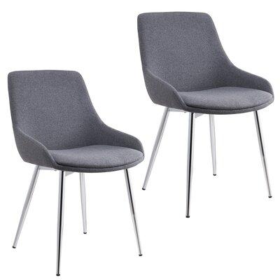 Cortes Velvet Upholstered Dining Chair Upholstery Color: Gray