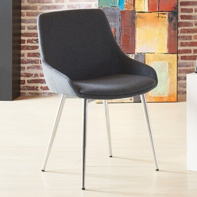Cortes Upholstered Dining Chair Upholstery Color: Gray