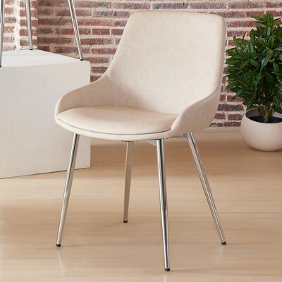 Cortes Upholstered Dining Chair Upholstery Color: Ivory