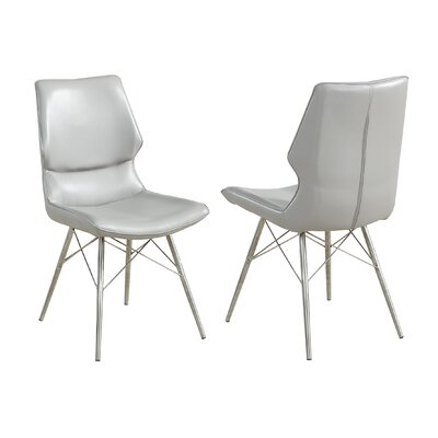 Judd Faux Leather/Metal Upholstered Dining Chair Upholstery Color: Light Gray